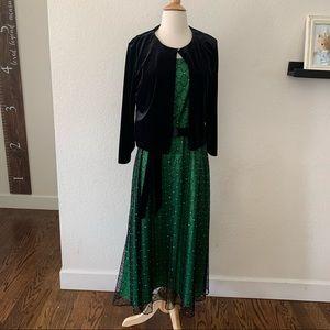 Coldwater Creek Green Midi Dress